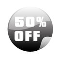 Black friday a and grey icon for Stock Image