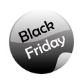 Black friday a and grey icon for Royalty Free Stock Image