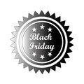 Black friday a icon with white text for Royalty Free Stock Photography