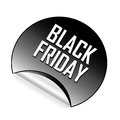 Black friday a icon with white text for Royalty Free Stock Images