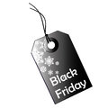 Black friday a icon with white text and silhouettes for Stock Photo