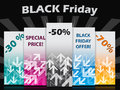 Black friday label set with discounts and bursting background Royalty Free Stock Image