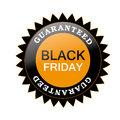Black friday a and orange icon with some text for Royalty Free Stock Image