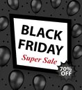 Black Friday promotional flyer, poster, invitation, banner. Template for your design. Special offer, discounts Vector Royalty Free Stock Photo