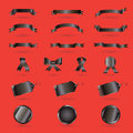 Black Friday ribbon set Royalty Free Stock Photo