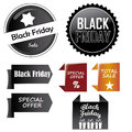 Black friday s icon a lot of and colored icons for Royalty Free Stock Photography