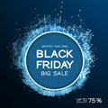 Black Friday sale abstract background. Futuristic technology style. Big data. Design with plexus. Royalty Free Stock Photo