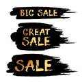 Black Friday Sale Abstract Vector ink brush hand drawn lettering Royalty Free Stock Photo