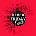 Black friday sale background in halftone style discount store Royalty Free Stock Photo