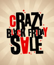 Black friday sale banner crazy Royalty Free Stock Image