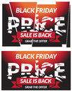 Black friday sale banner in jpg file Stock Photos