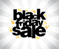 Black friday sale banner template Royalty Free Stock Photography
