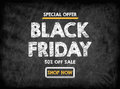 Black Friday sale. Black board with texture, background Royalty Free Stock Photo