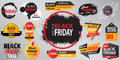 Black Friday Sale collection banner vector illustration with in