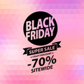 Black friday sale illustration advertising poster Stock Photography