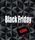 Black friday sale message on modern geometric background Royalty Free Stock Photography