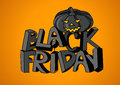 Black friday sale poster with hand lettering and pumpkin Royalty Free Stock Photo