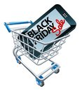 Black Friday Sale Phone Trolley Sign Royalty Free Stock Photo