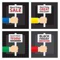 Black friday sale signage Royalty Free Stock Photo