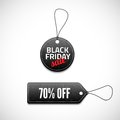 Black friday sales tag set vector illustration for your design Royalty Free Stock Photos