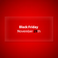 Black friday with special design for your website Royalty Free Stock Photos