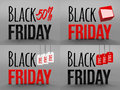 Black friday super sale. Raster illustration. Three-dimensional graphics. Sales, huge discounts. 3d illustration.