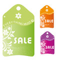 Black friday three colored icons with white text and silhouettes for Royalty Free Stock Image