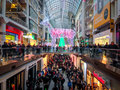 Black friday toronto november shoppers visit the mall in toronto canada on the november Stock Photography