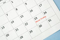 Black friday on white calendar Royalty Free Stock Images