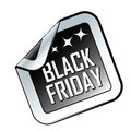Black friday a and white icon with white text for Royalty Free Stock Photo