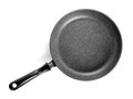 Black frying pan isolated on white background Royalty Free Stock Image