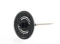 Black gear plastic wheel Royalty Free Stock Photo