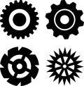 Black gears Stock Photos