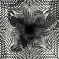 Black geometric abstract pattern Graffiti Royalty Free Stock Photo