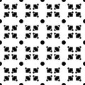 Black geometric shapes - seamless pattern.