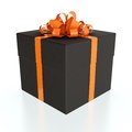 Black gift box Royalty Free Stock Photos