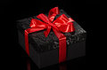 Black gift box Royalty Free Stock Photography