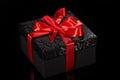 Black gift box Royalty Free Stock Photo