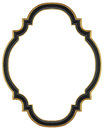 Black gilded frame wooden for mirrors tapestries and paintings Stock Photography