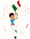 Black Girl Italy Soccer Fan Royalty Free Stock Image