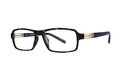 Black glasses with transparent glasses Royalty Free Stock Photo