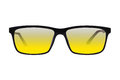Black glasses with yellow glasses Royalty Free Stock Photo
