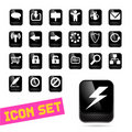 Black Gloss Business Icons Royalty Free Stock Images