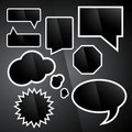 Black Gloss Speech Bubbles Stock Image