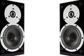 Black glossy music speakers Royalty Free Stock Photos