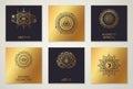 Black and Gold Alchemy Symbols Royalty Free Stock Photo