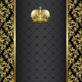 Black and gold background Royalty Free Stock Photo