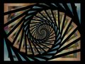 Black Gold Blue Spiral Pattern Stock Image