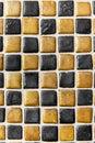 Black & Gold Ceramic Tile Background Pattern / Texture