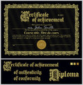 Black and gold certificate template horizontal additional design elements Stock Images